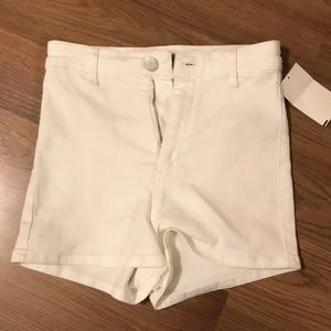 White High rise Topshop shorts size 8